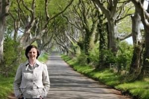 Elaine Agnew at the  Dark Hedges Co Antrim
