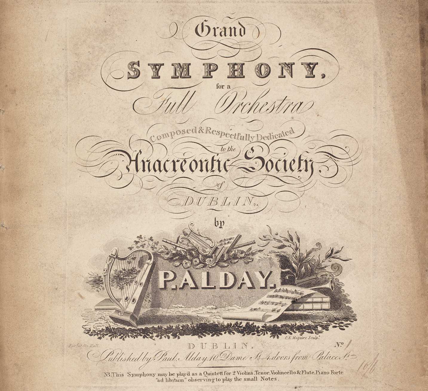 A Symposium On The Symphony And Ireland Takes Place 20 April