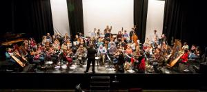 The Clare Memory Orchestra rehearsing 'The Clare Concerto'. Photo: John O'Neill